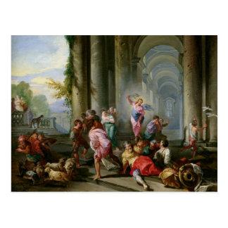 Carte Postale Le Christ conduisant les négociants par le temple