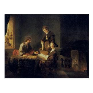Carte Postale Le Christ dans la Chambre de Martha et de Mary