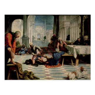 Carte Postale Le Christ lavant les pieds des disciples