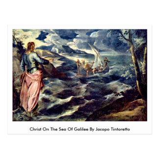 Carte Postale Le Christ sur la mer de la Galilée par Jacopo