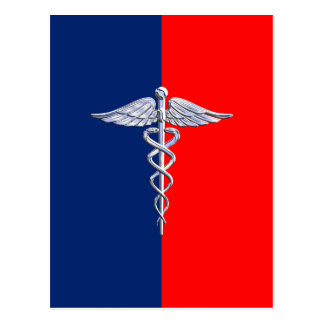 Carte Postale Le chrome aiment le décor médical de ligue de