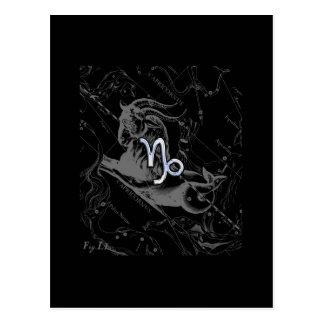 Carte Postale Le chrome comme le zodiaque de Capricorne se