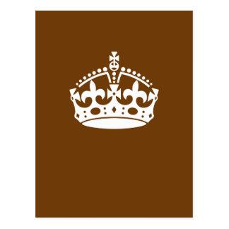 Carte Postale Le classique gardent la couronne calme sur brun