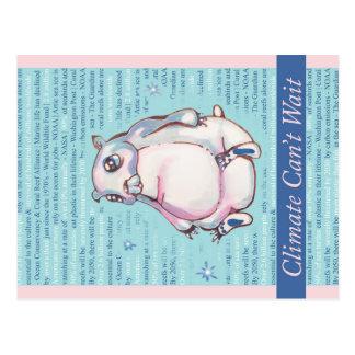 Carte Postale Le climat ne peut pas attendre l'ours blanc