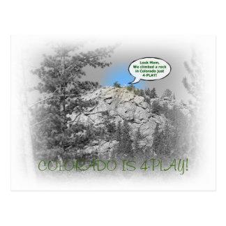Carte Postale le Co-rock, le COLORADO EST 4-PLAY !