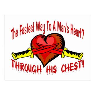 Carte Postale Le coeur de l'homme