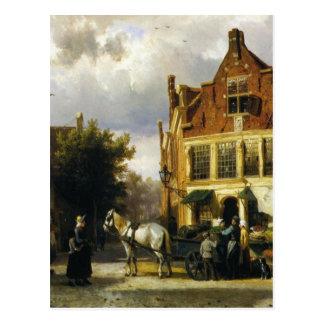Carte Postale Le coin de Westerstraat et de Tabakstraat dans