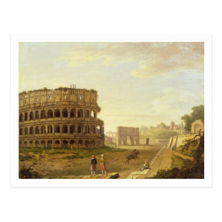 Carte Postale Le Colosseum, 1776 (huile sur la toile)