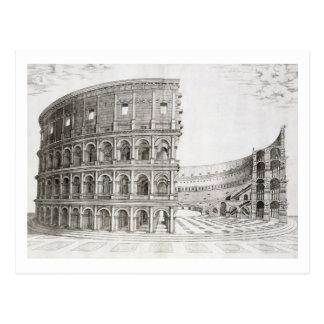 Carte Postale Le Colosseum, construit dans l'ANNONCE 80