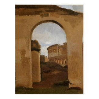 Carte Postale Le Colosseum, vu les arcades