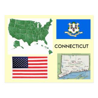 Carte Postale Le Connecticut, Etats-Unis