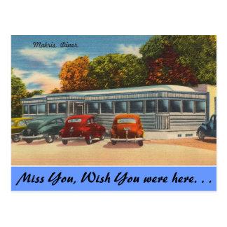 Carte Postale Le Connecticut, wagon-restaurant de Makris
