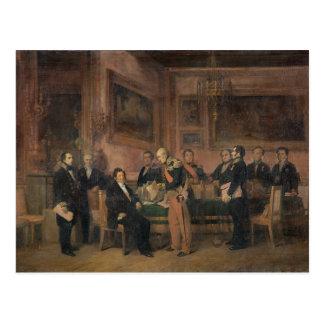 Carte Postale Le Conseil des ministres à la signature de