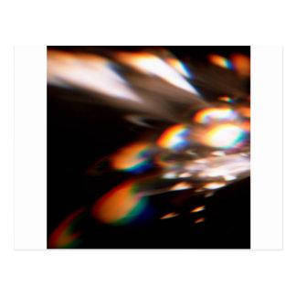 Carte Postale Le cristal abstrait reflètent l'éclat
