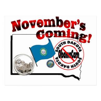 Carte Postale Le Dakota du Sud anti venir d'ObamaCare - de