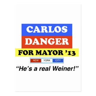 Carte Postale Le danger de Carlos pour maire He de NYC est un