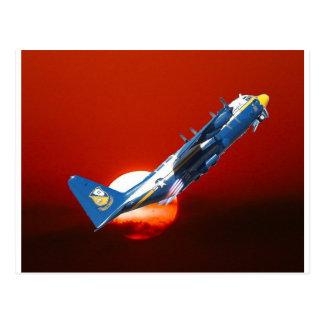 Carte Postale Le décollage assisté des anges bleus C-130