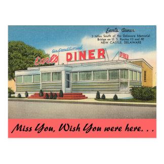 Carte Postale Le Delaware, le wagon-restaurant du comte