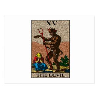 Carte Postale Le diable - tarot