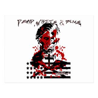 Carte Postale Le Drapeau-Abraham sanglant Lincoln