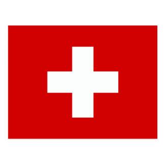 Carte Postale Le drapeau de la Suisse