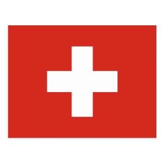 Carte Postale Le drapeau de la Suisse meurent der Schweiz de