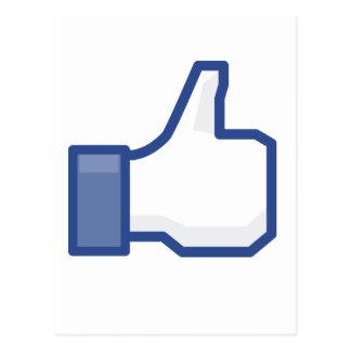 Carte Postale le facebook M'AIMENT manier maladroitement !