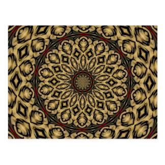 Carte Postale Le faisan fait varier le pas du kaléidoscope
