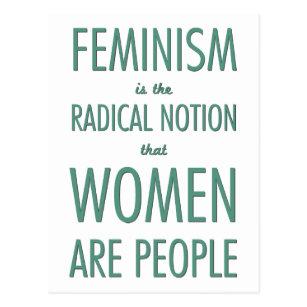 Carte Postale Le féminisme : La notion radicale que les femmes