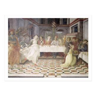 Carte Postale Le festin de Herod (fresque) (voyez également