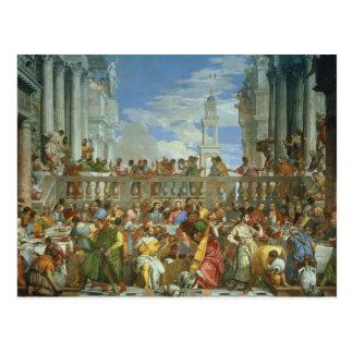 Carte Postale Le festin de mariage chez Cana, c.1562 (huile sur