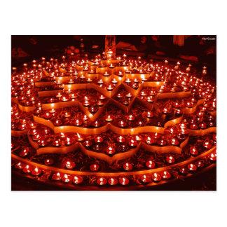 Carte Postale Le festival des lumières en Inde