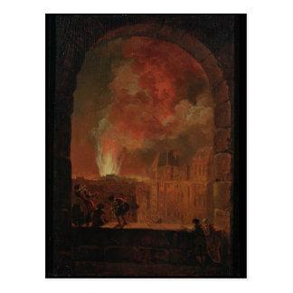Carte Postale Le feu à l'opéra du Palais Royal