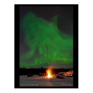 Carte Postale Le feu et l'aurore sur le Salcha