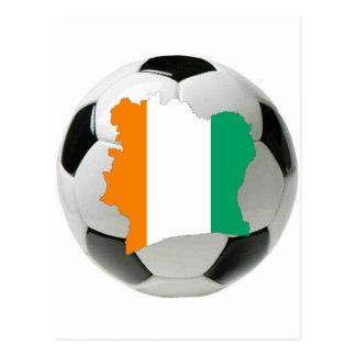 Carte Postale Le football de la Côte d'Ivoire