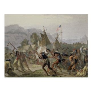 Carte Postale Le fort le Mackenzie, le 28 août 1833, plaquent 42