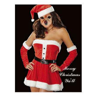 Carte Postale Le Fox est une autre aide de Père Noël