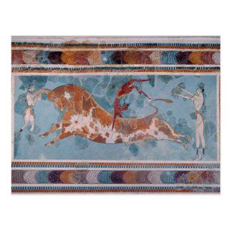 Carte Postale Le fresque de torero, palais de Knossos, Crète