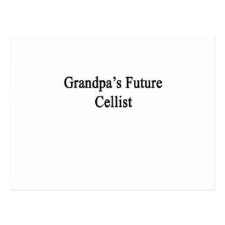 Carte Postale Le futur violoncelliste du grand-papa