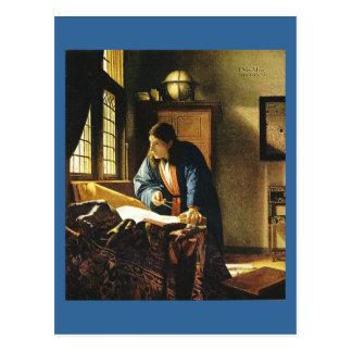 Carte Postale Le géographe de Johannes Vermeer (circa 1669)