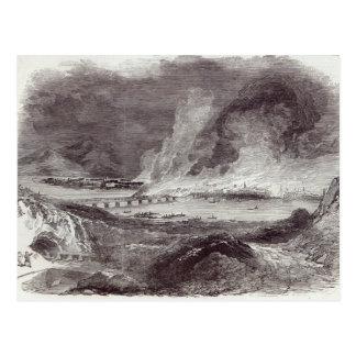 Carte Postale Le grand feu à Pittsburgh