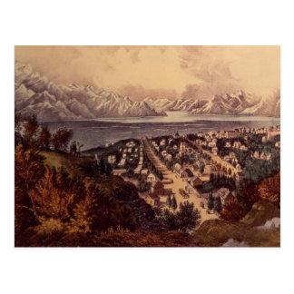 Carte Postale Le Grand Lac Salé, Utah