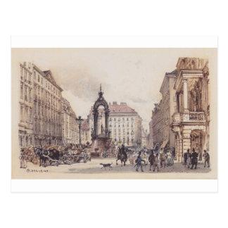 Carte Postale Le grand marché à Vienne par Rudolf von Alt