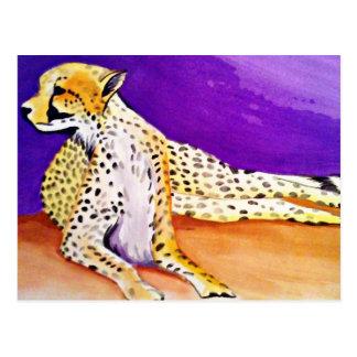 Carte Postale Le guépard majestueux (art de Kimberly Turnbull)