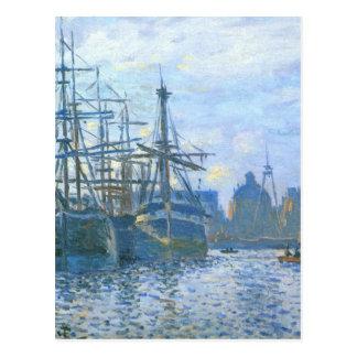 Carte Postale Le Havre, le bassin commercial par Claude Monet