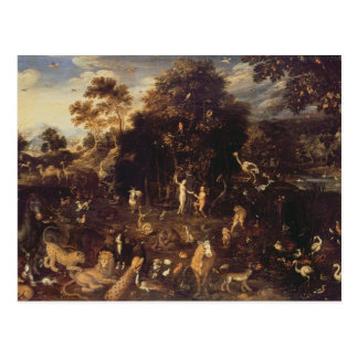 Carte Postale Le jardin d'Éden