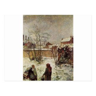 Carte Postale Le jardin en hiver, rue Carcel par Paul Gauguin