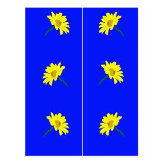 Carte Postale Le jaune fleurit des signets