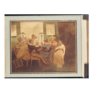 Carte Postale Le jeu de carte, après 1830
