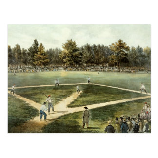 Carte Postale Le jeu national américain du base-ball